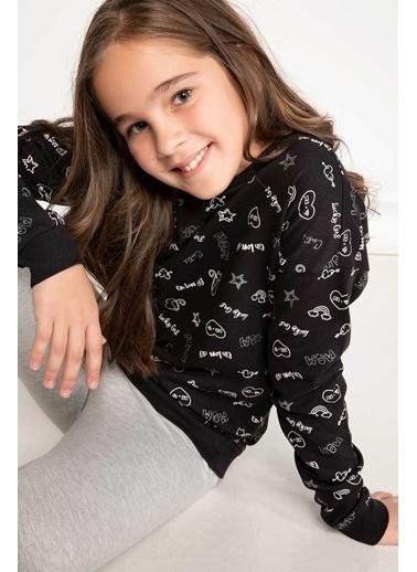 DeFacto Basic Sweatshirt Siyah